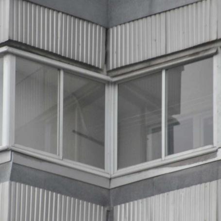 Фото остекления балкона сапожок п-44 - фотогалерея.