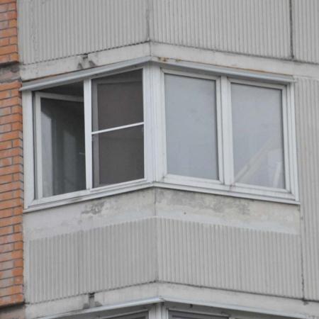 Остекление балкона утюжок п-44т.